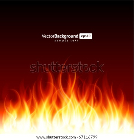 burn flame fire vector