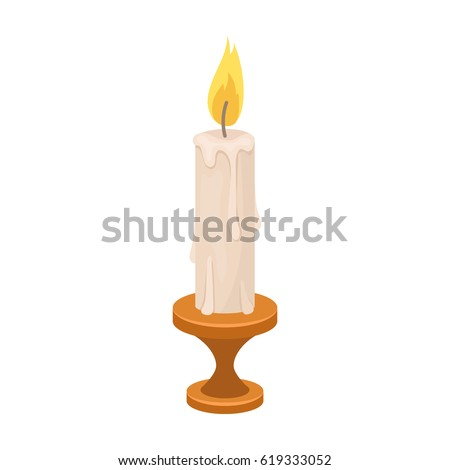 burning candle from paraffin