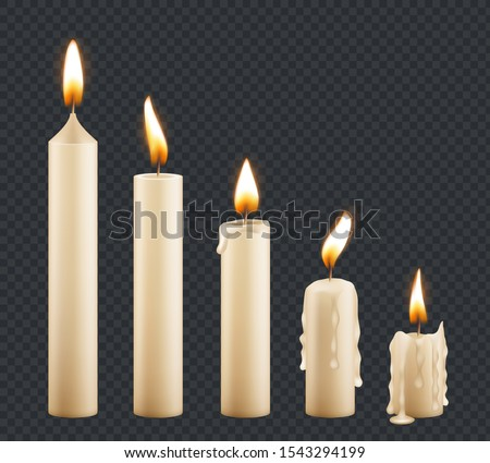 burning candle stages