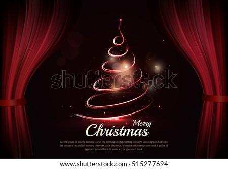 burning christmas tree and text