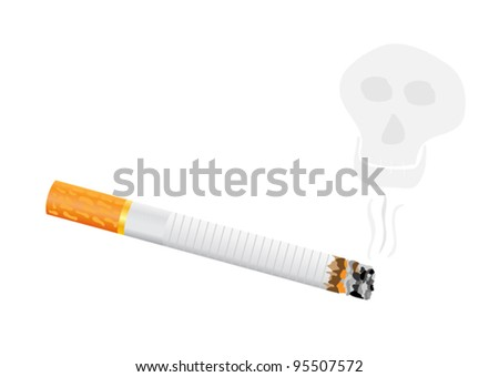 burning cigarette
