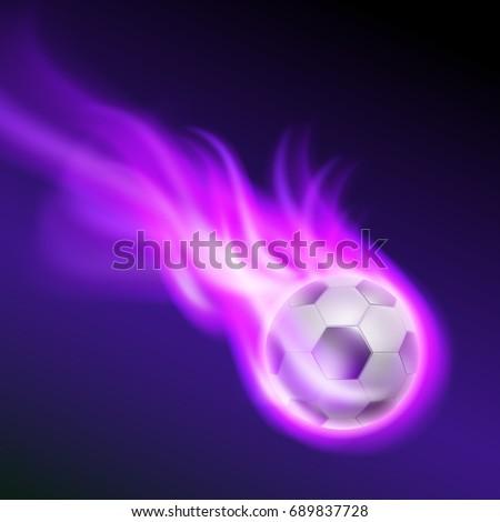 burning football on purple fire