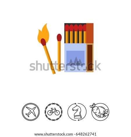 burning matches icon