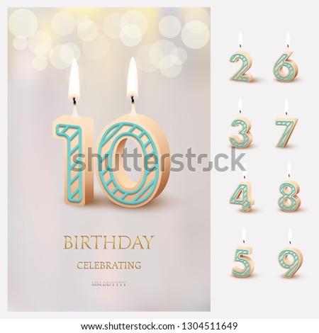 burning number 10 birthday