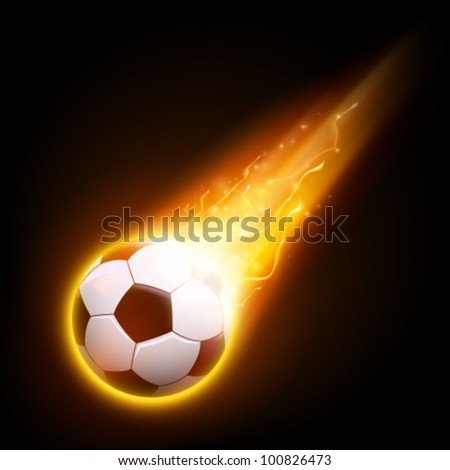 burning vector football/soccer ball illustration