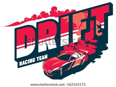 burnout car  japanese drift