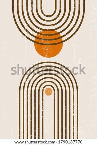 burnt orange sun print boho