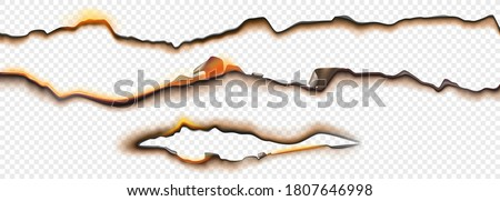 burnt paper edges with fire and