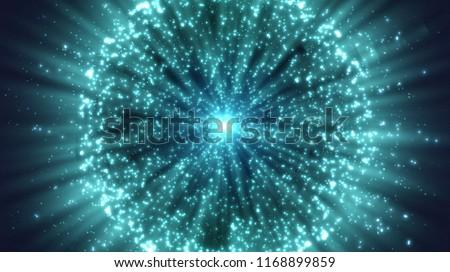 Burst lines with lights. Vector digital graphic for brochure, website, flyer, print, poster, other design.