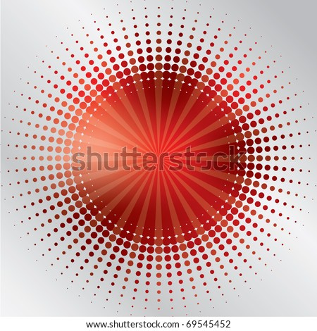 Bursting in halftone - stock vector