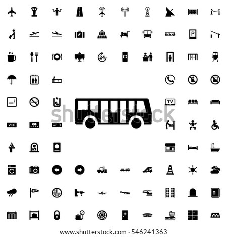 bus airport icon illustration isolated vector sign symbol