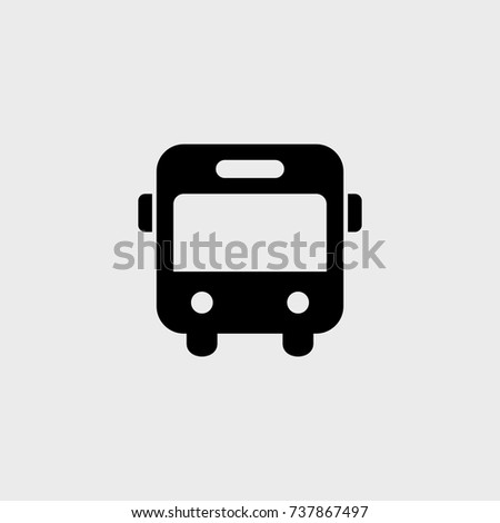 Bus flat vector icon. Transport flat vector icon