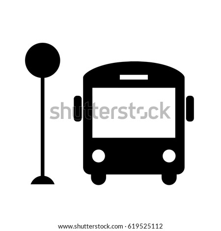 Bus icon isolated on white background. Vector art.