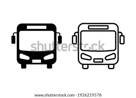 Bus icon set. bus vector icon Сток-фото ©