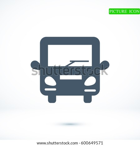 bus icon, vector best flat icon, EPS