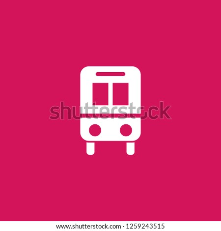 bus icon vector. bus sign on pink background. bus icon for web and app
