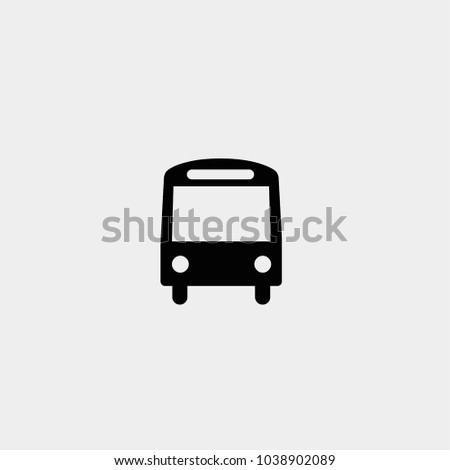 Bus icon. Vector bus symbol