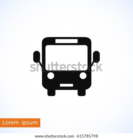 bus icon vector  flat design