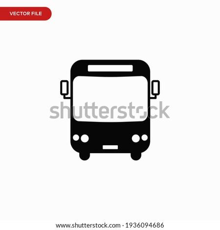 Bus icon vector. Simple transportation sign ストックフォト ©