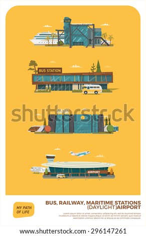 bus  maritime  railway stations