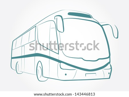 BUS OUTLINE VECTOR