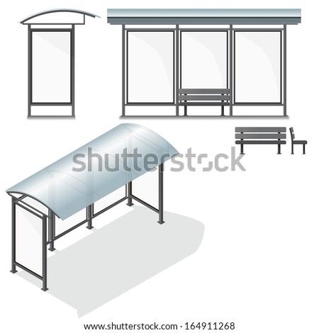 bus stop empty design template