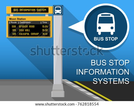 Bus Stop Real Time Information Display Timetable System Network Digital Passenger Planning Public Transport