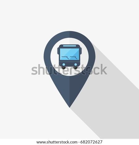 bus stop vector icon