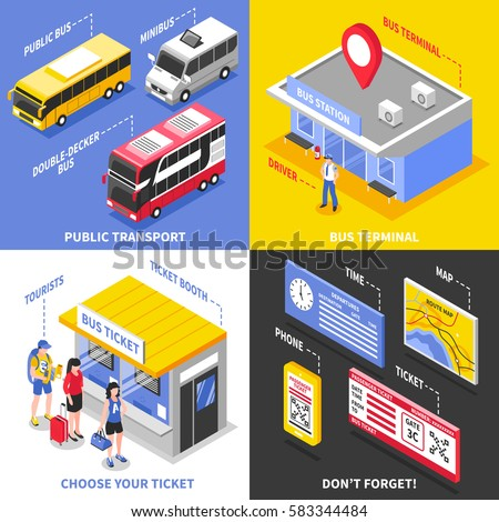 bus terminal isometric design