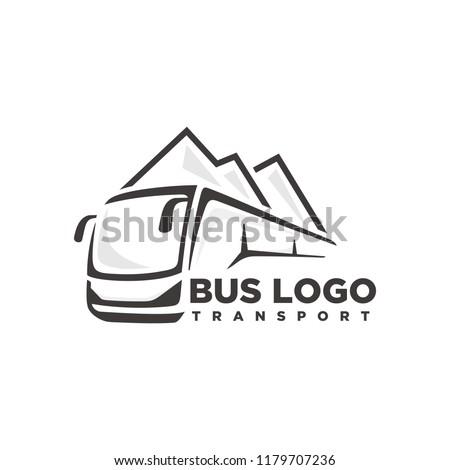 Bus, travel bus logo template