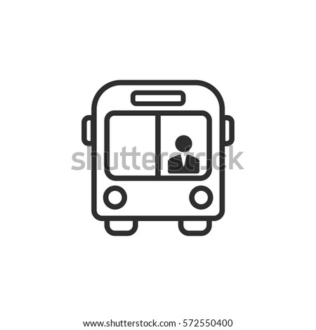 Bus vector icon. Black illustration isolated on white background for graphic and web design.