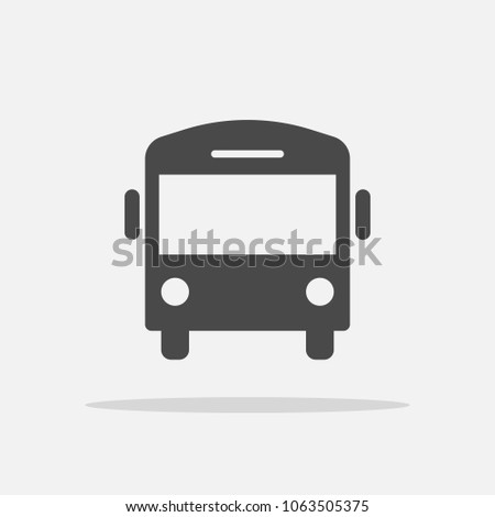 bus vector icon for transportation