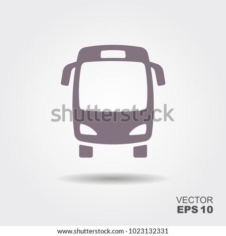 Bus vector icon. Public transport symbol. Flat illustration