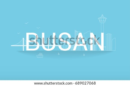 busan vector illustration rope