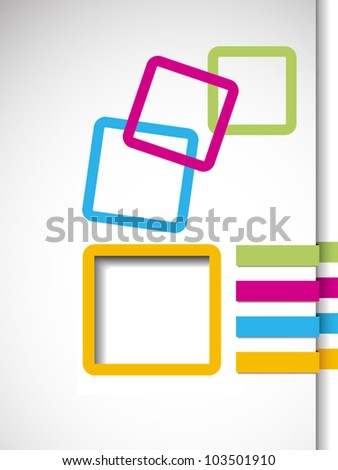 Business abstract frame