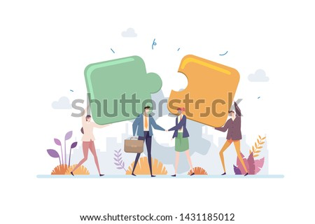 Business Acquisition Partnership Vector Illustration Concept Showing Two Business Partner Handshake As A Deal Symbol, Suitable for landing page, ui, web, app intro card, editorial, flyer, and banner.