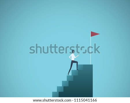 business ambition vector