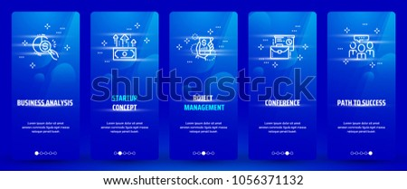stock-vector-business-analysis-startup-concept-project-management-conference-path-to-success-vertical-cards