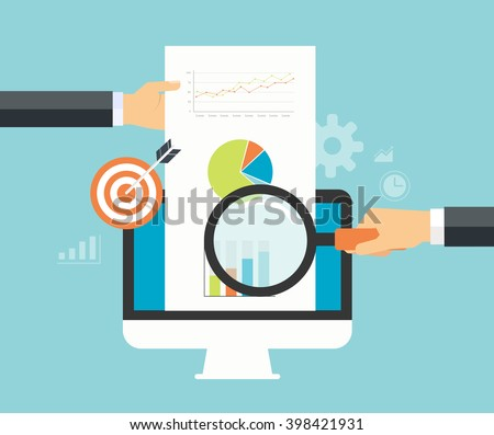 business analytic graph report . business investment planning