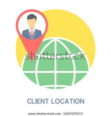 Business and Client Location Icon