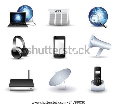 business and communication vector icon set