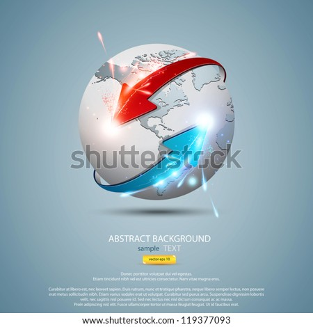 Business and communications concept. Vector