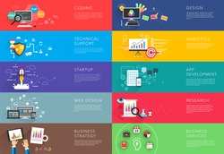 business and development templates vector bight colorful