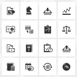 Business and enterprise vector icons. File format is EPS8.