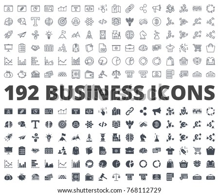Business and Finance Icon line and silhouette