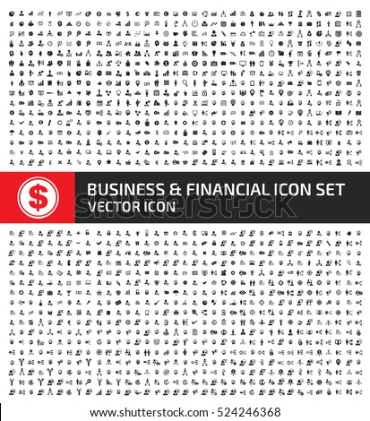 Business and finance icon set,clean vector
