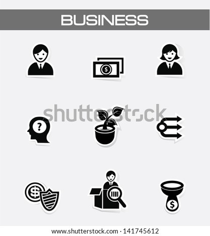 Business and finance icons,vector