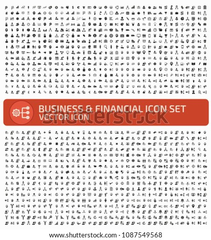 Business and finance vector icon set #1087549568