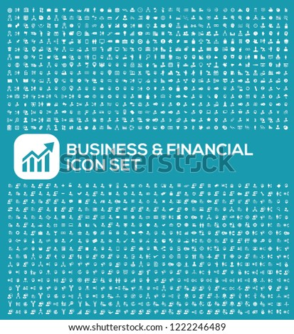 Business and finance vector icon set
