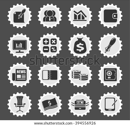 Business and Finance Web Icons for web icons #394556926